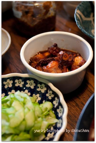 蛸の甘辛煮と白瓜