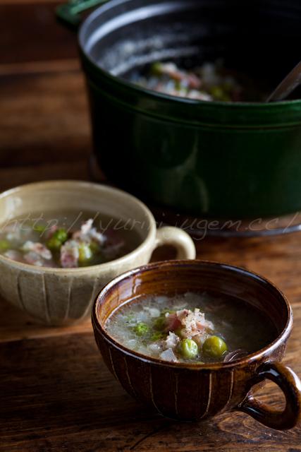 20130416グリンピースと新玉ねぎの塩麹スープ-3.jpg