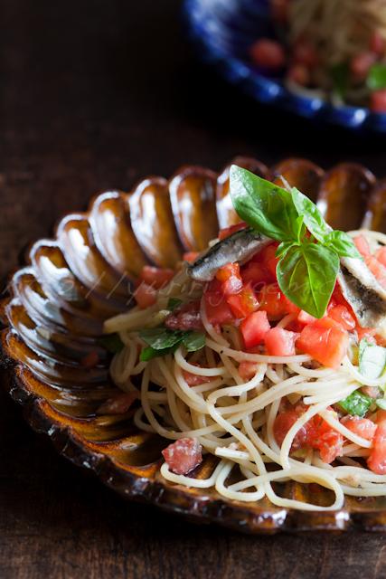 たっぷりトマトとオイルサーディンの冷製パスタ | ゆりり亭 *〜料理もお酒も無手勝流〜*