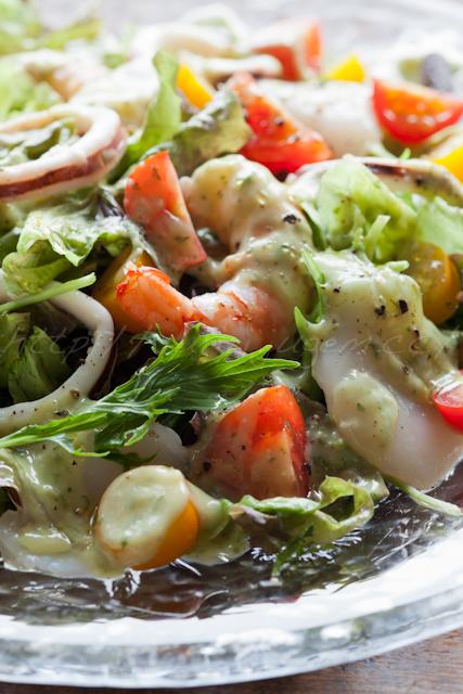 アボカドソースのサラダ2種 | ゆりり亭 *〜料理もお酒も無手勝流〜*