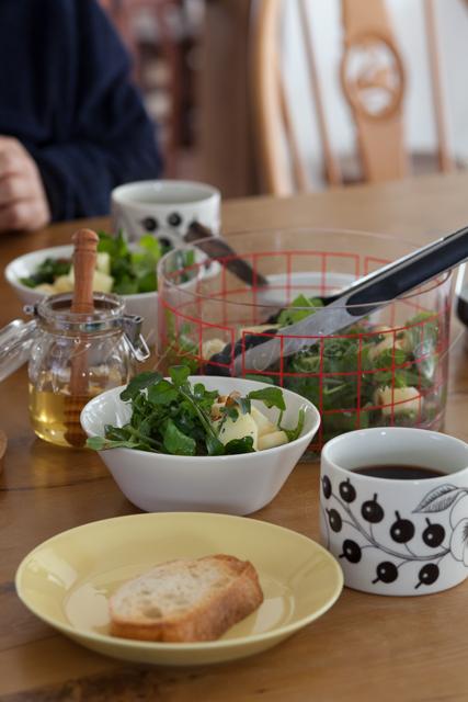 20141116林檎とクレソンのサラダの朝ご飯.jpg