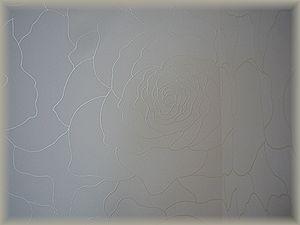 寝室・壁紙(バラ)