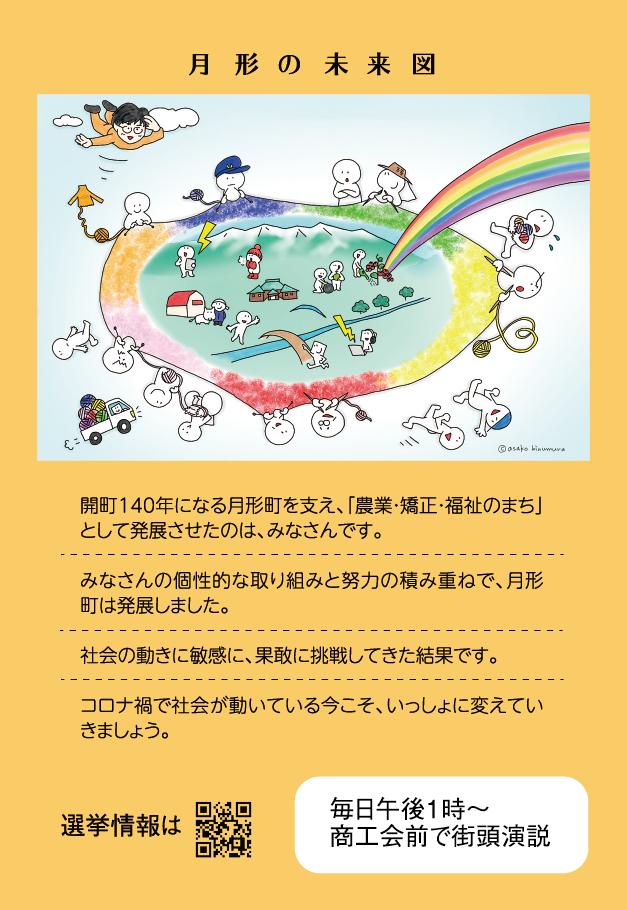 中高年男向け選挙ハガキ