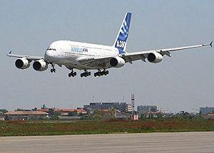 エアバス A380 2005年4月27日の初着陸