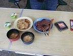 ステーキ&チジミ&味噌汁&チャンジャ&アロエヨーグルト