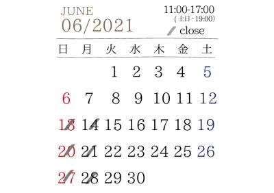 6月の営業予定