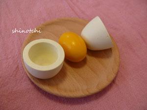木のおもちゃ ままごと 卵