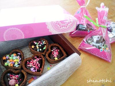 手作りバレンタインチョコレート 親子クッキング