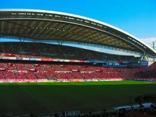 サッカー競技場の画像