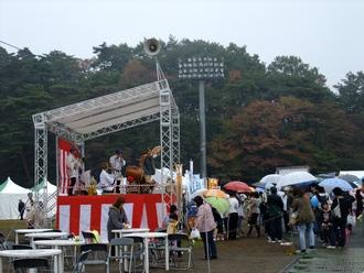 午後は雨が降り出した