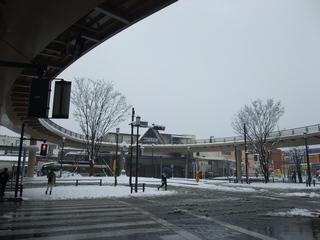 集音器ブログ 雪の河辺駅