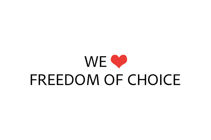 WE LOVE Freedom Of Choice