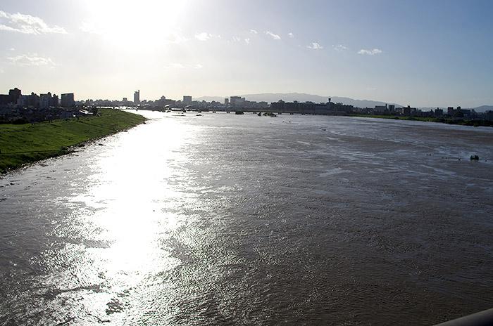 台風18号 淀川