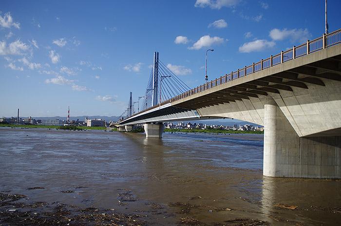 台風18号 淀川 城北大橋