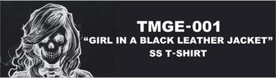 "TMGE-001 ""GIRL IN A BLACK LEATHER JACKET""SS T-SHIRT THEE MICHELLE GUN ELEPHANT(ミッシェルガンエレファント)"