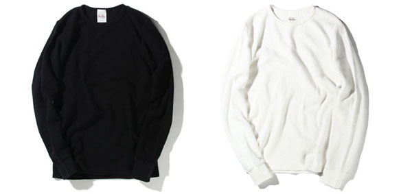 >RUDE GALLERY BLACK REBEL / WAFFLE CREW NECK L/S ルードギャラリーブラックレベル