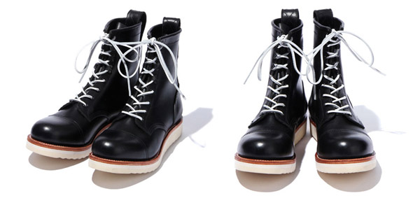 RUDE GALLERY BLACK REBEL / REBELS LACE UP BOOTS<CAP TOE>