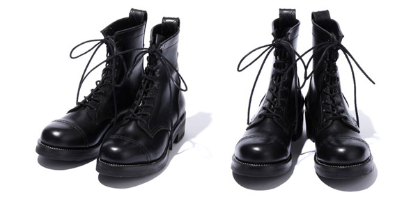 RUDE GALLERY BLACK REBEL / REBELS LACE UP BOOTS<PUNCHED CAP TOE>