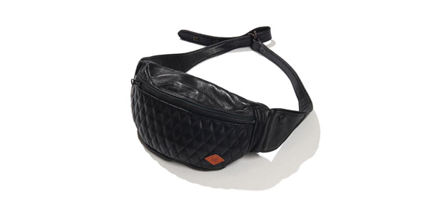RUDE GALLERY BLACK REBEL / OUTSIDERS LEATHER WAIST BAG