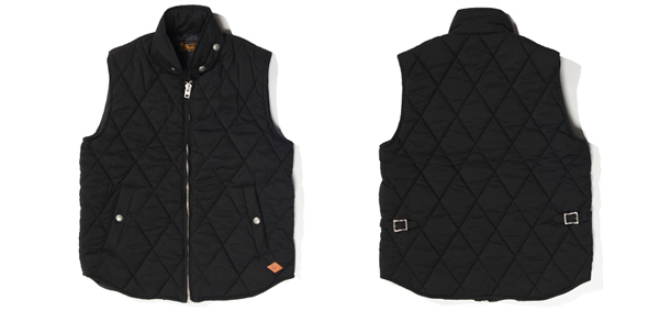 RUDE GALLERY BLACK REBEL / REBELS QUILT VEST ルードギャラリーブラックレベル