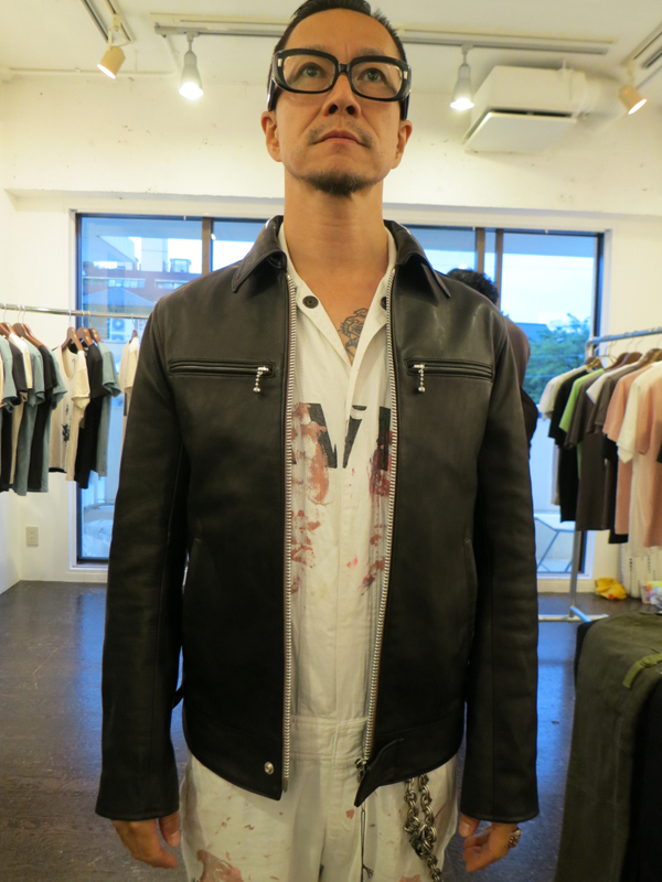 GAVIAL / LEATHER SINGLE RIDERS JACKET gavial中村達也
