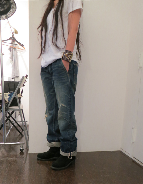 GAVIAL / NEW WIDE DENIM PANTS(OWN WASH)(USED) gavial中村達也