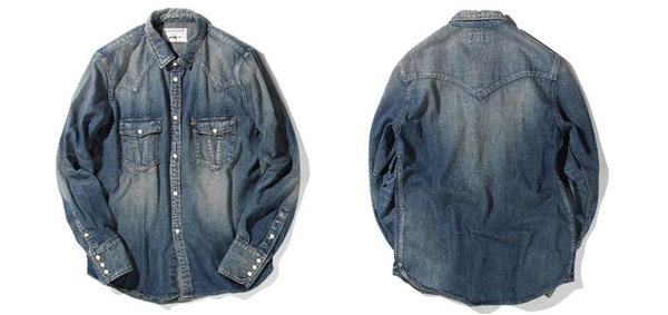 RUDE GALLERY BLACK REBEL / ROAD JACK DENIM SHIRTS<VINTAGE WASH>