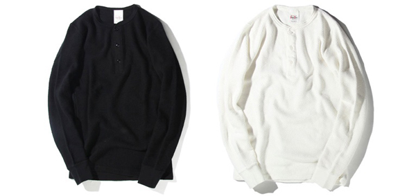 RUDE GALLERY BLACK REBEL / WAFFLE HENLEY NECK L/S ルードギャラリーブラックレベル