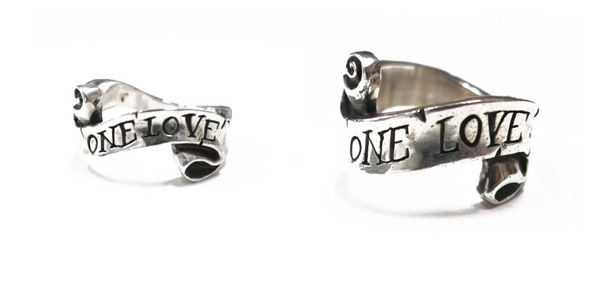 CHAOS DESIGN / RIBBON RING カオスデザイン ONE LOVEリング