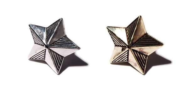 RUDE GALLERY BLACK REBEL / STAR PINS MEDIUM <CHAOS DESIGN COLLABORATION> カオスデザイン