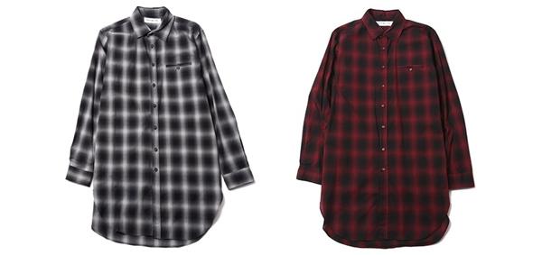 RUDE GALLERY / LONG SHIRT -OMBRE CHECK ルードギャラリー ロングチェックシャツ