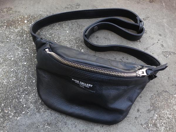 RUDE GALLERY / WAIST BAG -LEATHER ルードギャラリー ウエストバッグ