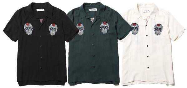 RUDE GALLERY / MEX GUITAR SKULL BOWLING SHIRT ルードギャラリー ボーリングシャツ