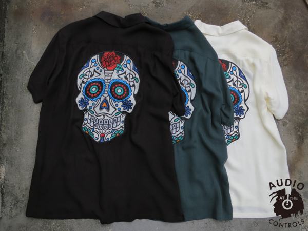 RUDE GALLERY / MEX GUITAR SKULL BOWLING SHIRT ルードギャラリー メキシカンスカルボーリングシャツ