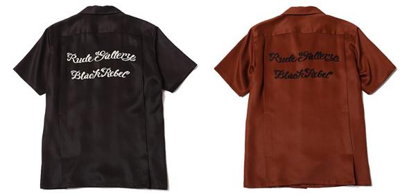 RUDE GALLERY BLACK REBEL / TATTOO LOGO BOWLING SHIRT<ARTWORK by H.U.>MAGICAL DESIGN マジカルデザイン