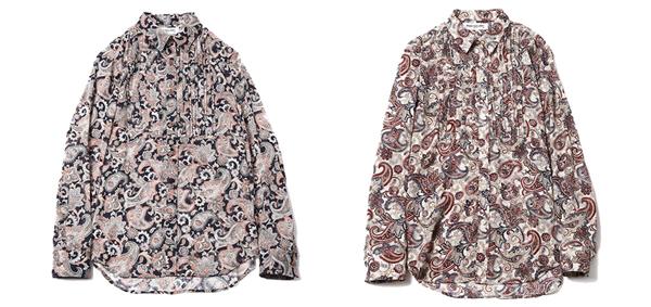 ルードギャラリー RUDE GALLERY / PINTUCK SHIRT -PAISLY ペイズリーシャツ