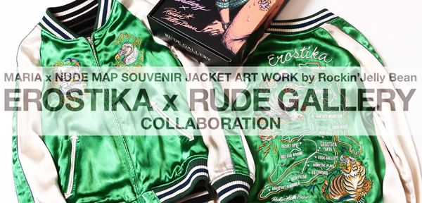 MARIA×NUDE MAP SOUVENIR JACKET<ART WORK by Rockin Jelly Bean>
