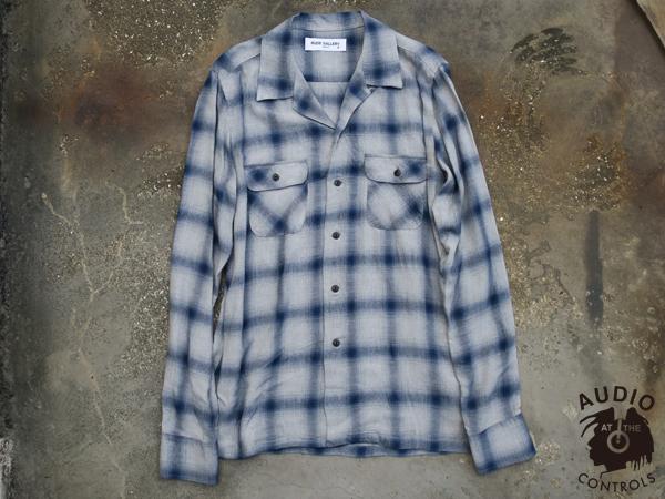 RUDE GALLERY / OPEN COLLAR SHIRT -OMBRE ルードギャラリー チェックシャツ