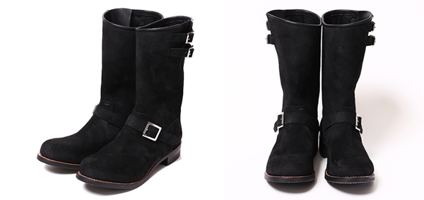 RUDE GALLERY BLACK REBEL / LADIES REBELS SUEDE ENGINEER BOOTS レディースエンジニアブーツ