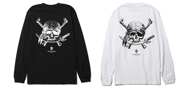 MAGICAL DESIGN / PIRATES-SKULL LS-TEE マジカルデザイン