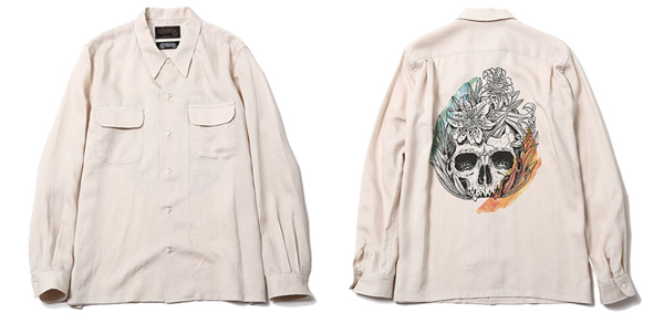SUNDINISTA EXPERIENCE×PERMANENT GENUINE / OPEN COLLAR SHIRT - Lily&Bones - A