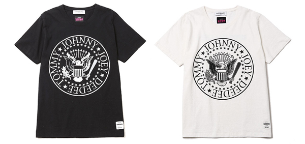 ルードギャラリー RUDE GALLERY / RAMONES MEETS RUDE GALLERY TEE - BIG SILHOUETTE