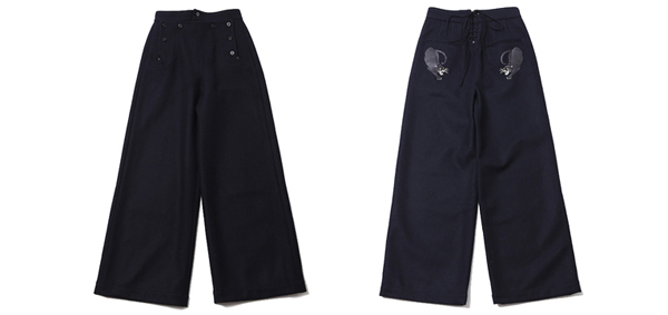 ルードギャラリー RUDE GALLERY / LADIES BLACK PANTHER SAILOR PANTS