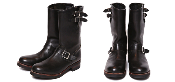 RUDE GALLERY BLACK REBEL / LADIES REBELS LEATHER ENGINEER BOOTS