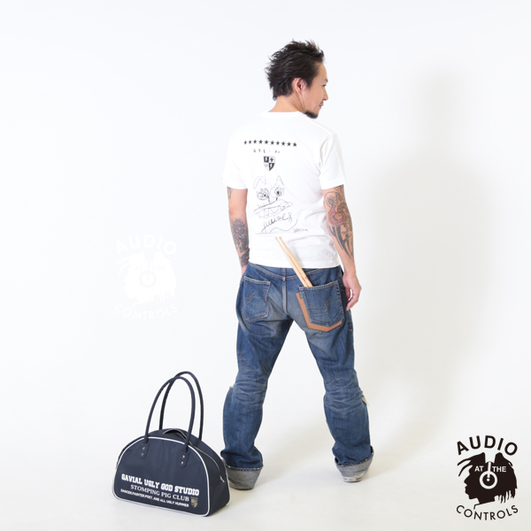 "GAVIAL / 10th ANNIV.COLLABO.ITEM S/S TEE �AKAI OOKAMI"" gavial 中村達也"