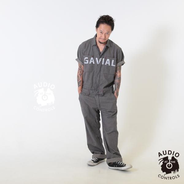 GAVIAL / S/S JUMP SUIT -STRIPE gavial 中村達也 ツナギ