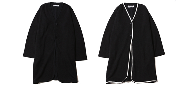 ルードギャラリー RUDE GALLERY / KNIT NO COLLAR ROBE