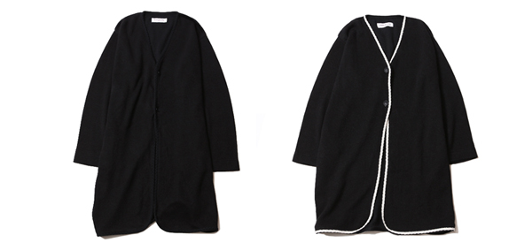 ルードギャラリー RUDE GALLERY / KNIT NO COLLAR ROBE - LADIES
