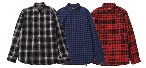 ルードギャラリーブラックレベル RUDE GALLERY BLACK REBEL / CHECK WORK SHIRT