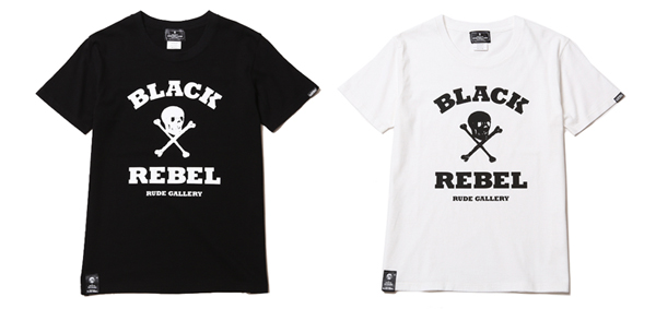 ルードギャラリーブラックレベル RUDE GALLERY BLACK REBEL / REBELS SKULL&BONES TEE